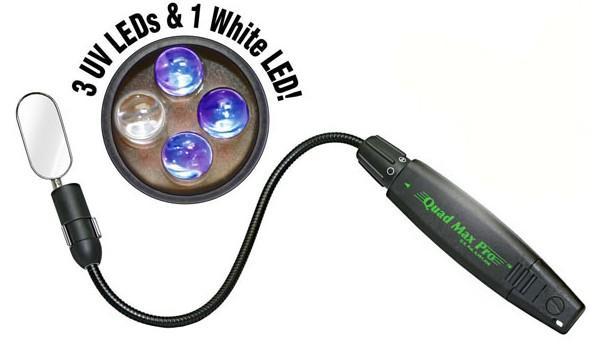 带反光镜的柔性杆笔式检漏灯