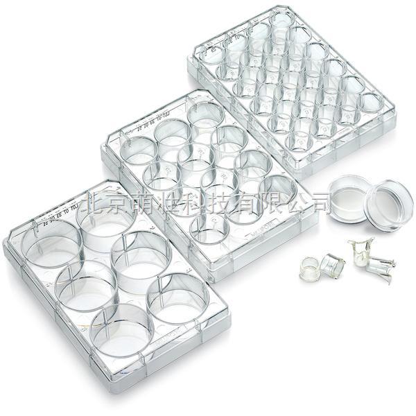 名称:插入式细胞培养皿 品牌:Millipore 产品详细介绍: 直径为12mm和30mm的培养皿适合大多数24孔或6孔板使用。与塑料培养板上的细胞相比较,生长在插入式Millicell培养皿上的细胞更能代表其体内状态;使用微孔膜可使培养基到达细胞的两侧,插入式Millicell培养皿可改善细胞分化,扩大分析细胞的生物应用,方便用于SEM和TEM技术与细胞和荧光染色相容。无菌包装,即用式。Millicell-CM包含有透明的Biopore(PTFE)膜,可直接透过膜观察细胞。Millicell-PCF经处