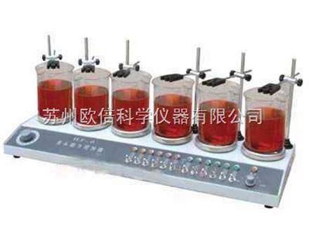 六联磁力加热搅拌器