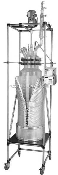 优莱博 圆柱形100L夹套和单层反应釜