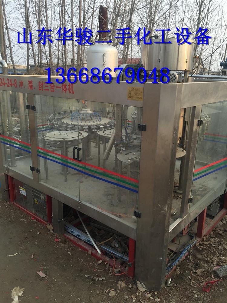 出售二手桶装水生产线大桶水灌装机上海华大二手管式