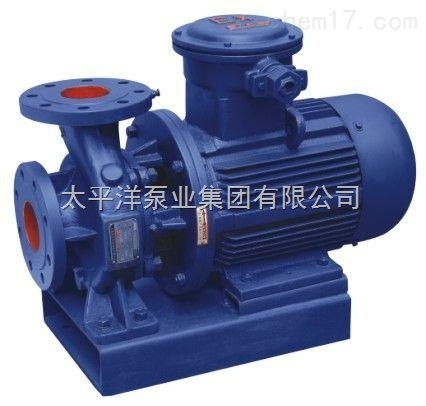 ISWB防爆型卧式管道离心泵