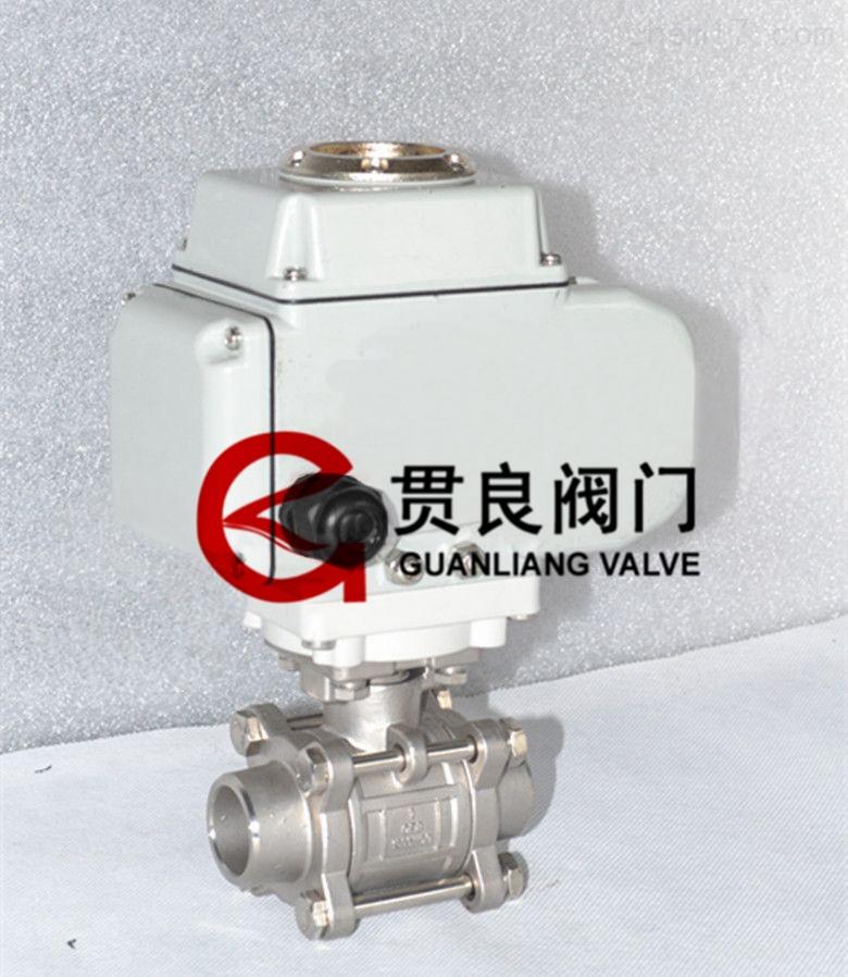 q961h-16p 不锈钢焊接电动三片式球阀图片