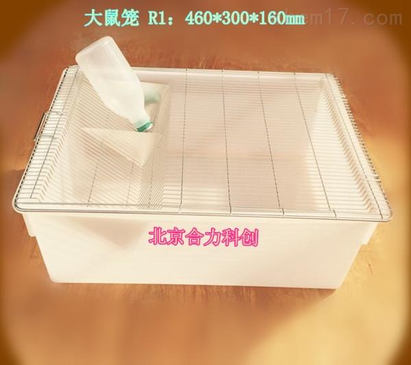 大鼠笼 R1:460*300*160mm   盒子+网盖+水壶