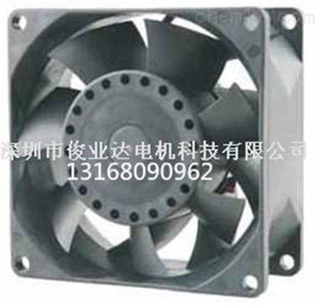 常见的直流无刷风扇产品上通常不会直接标明功率,而是标注额定工作