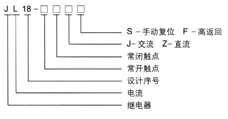 jl18-11zs/63a过电流继电器
