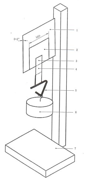 GB/T4851-2014 胶粘带持粘性的试验方法示意图