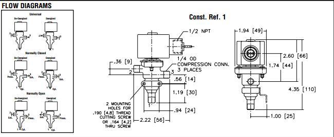asco两位三通电磁阀接线方式