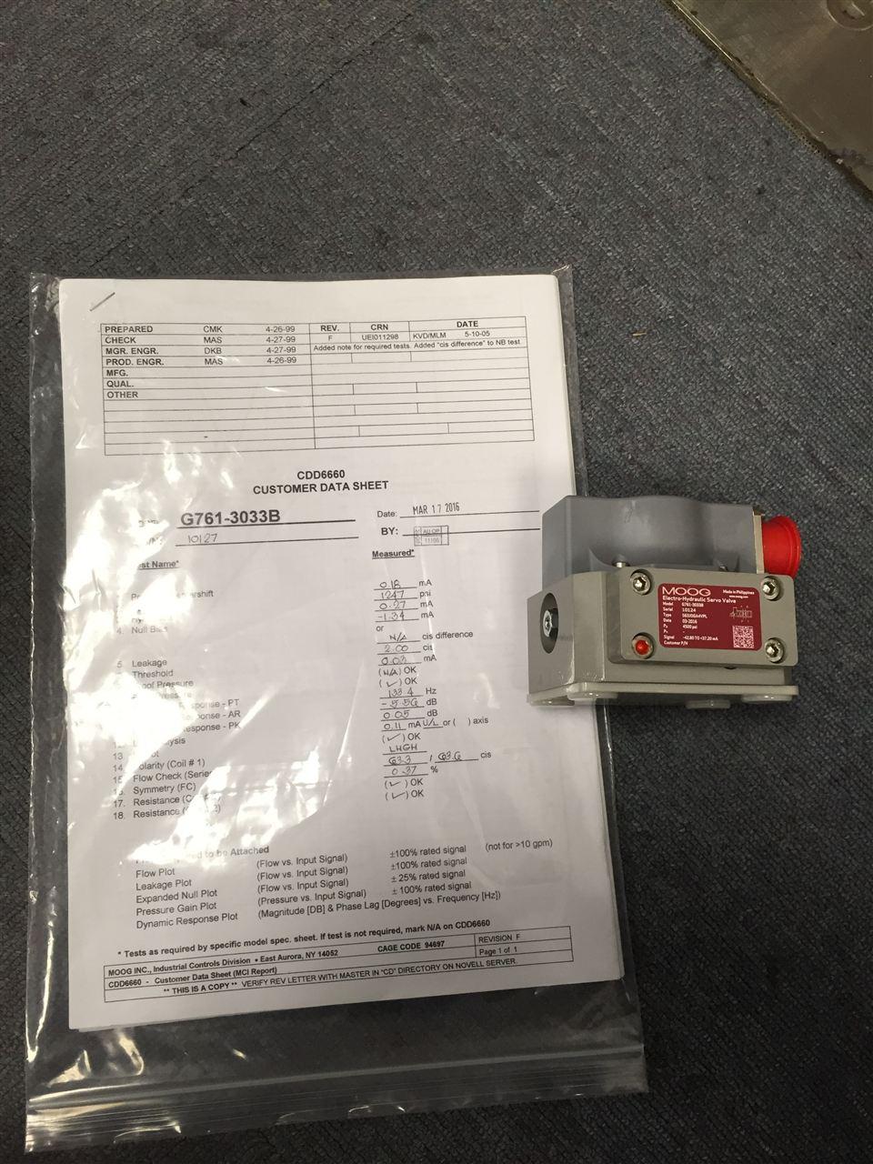 检测报告 g761系列伺服阀(两级伺服阀)产品说明: g761系列伺服阀是