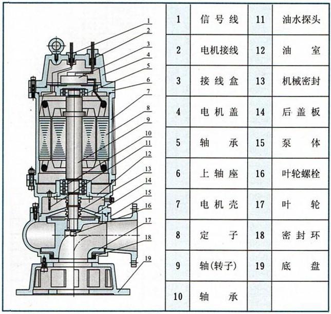 本排污泵高效节能,结构新颖.