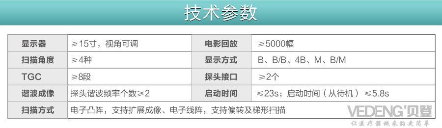 <strong><strong>迈瑞黑白便携式超声</strong></strong>DP-50技术参数