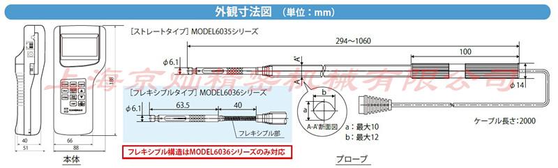 6036风量仪外观尺寸