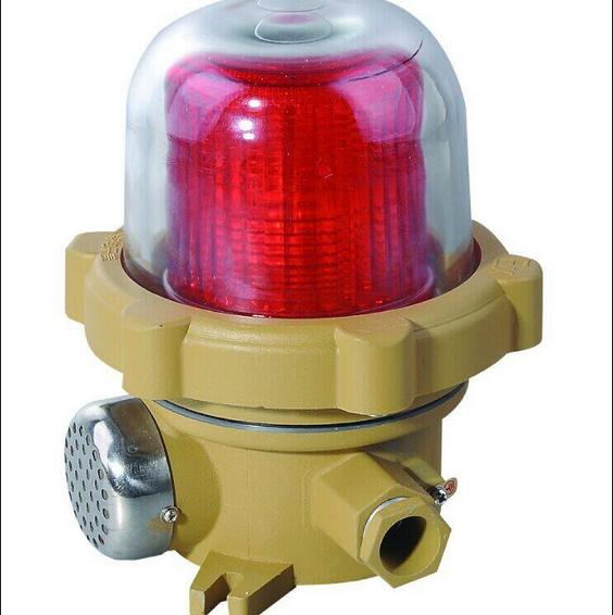 防爆火灾声光报警器(简称报警器)为非编码型报警器,适用于安装在含有C(B)级T6温度组别的爆炸性气体环境场所,当生产现场发生事故或火灾等紧急情况时,火灾报警控制器送来的控制信号启动声光报警电路,发出声和光报警信号,完成报警目的。报警器也可同手动报警按钮配合使用,达到简单的声,光报警目的。报警器可以和国内外任何厂家的火灾报警控制器配套使用。报警器采用超高亮LED发光管,360度清晰可视。 本产品符合GB3836.